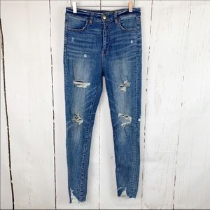 American Eagle   Highest Rise Distressed Jeggings